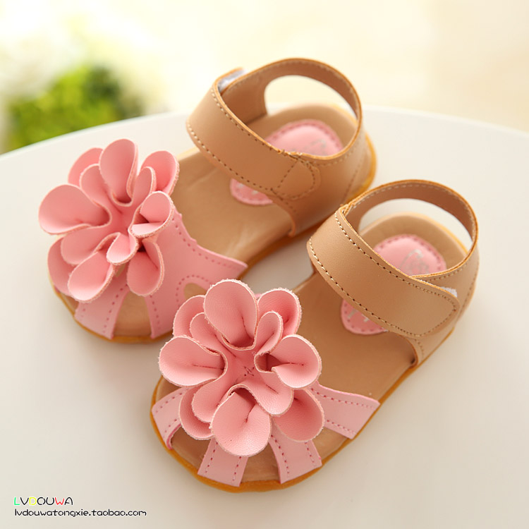 kids shoes girls 2016 new summer female child girls sandals flower PVC princess baby girls shoes fashion sandals(China (Mainland))