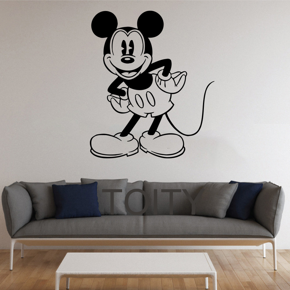 Popular mickey mouse stencils buy cheap mickey mouse for Cartoon wall mural
