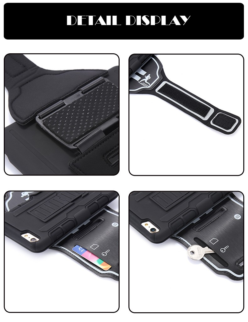 Sport Arm band Card Holder Phone Case For iPhone 7/Plus 6 6s Plus 5s SE For Samsung Note 7 3 4 5 S5 S6 S7/Edge ForLG G3 G4 Cover
