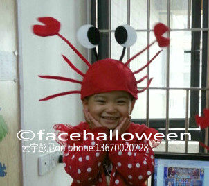 Lot 100 Funny Red Crab Christmas Hat Gift Kids Women Female Decoration Ornament Party - facehalloween store
