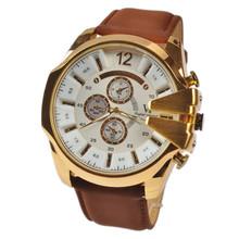 NEW men sport quartz watch leather strap gold silver steel men watches luxury brand V6 dive 30M wristwatches relogio masculino