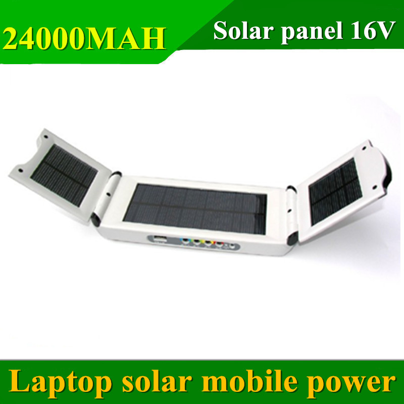 Free shipping 24000 mah Solar mobile power supply for notebook computer, large-capacity solar charge<br><br>Aliexpress