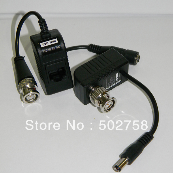 Free Shipping 8pcs,4Pairs/lot Pack cat5  cameraCCTV RJ45 UTP Video Balun Transceiver, with  Video and Power