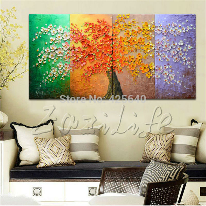 Buy Oil Painting On Canvas Wall Pictures Paintings For Living Room Wall Multi