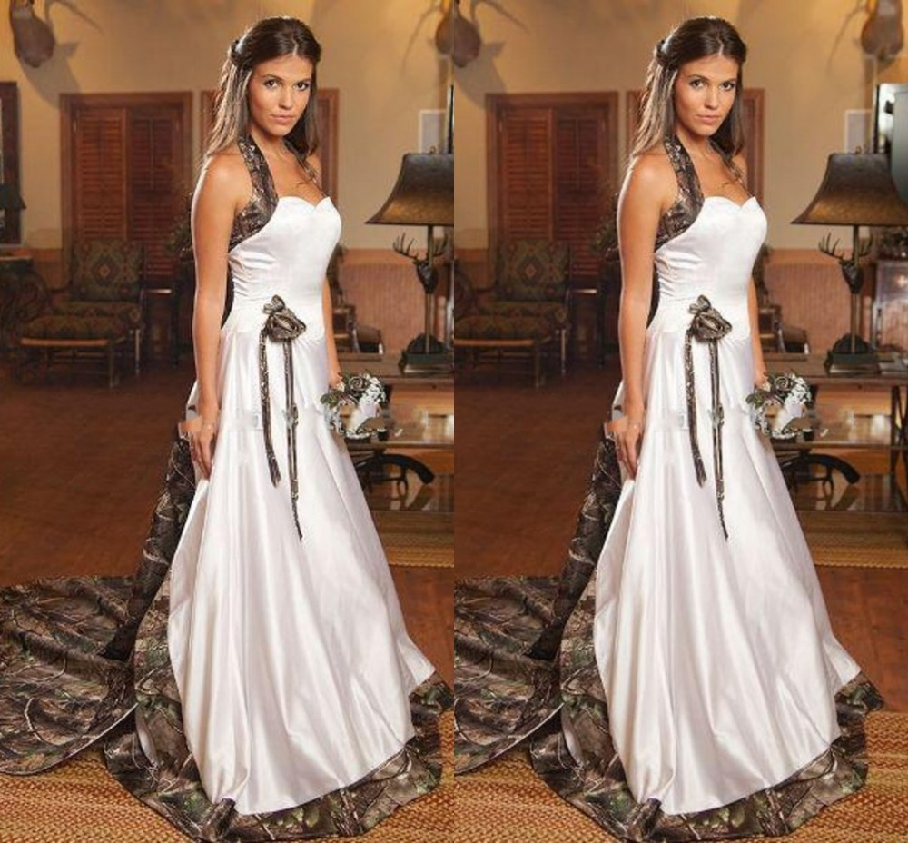 veil camo trimmed waist length camouflage wedding dresses Veil Trimmed in Realtree MAX 4
