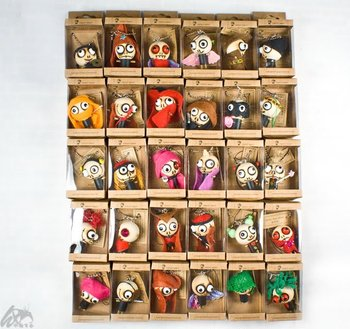 free shipping! wholesale,100pcs/lot ,wooden voodoo dolls,handmade dolls,mobile keychain,fashion toy,Foreat Ghost,charm chain.