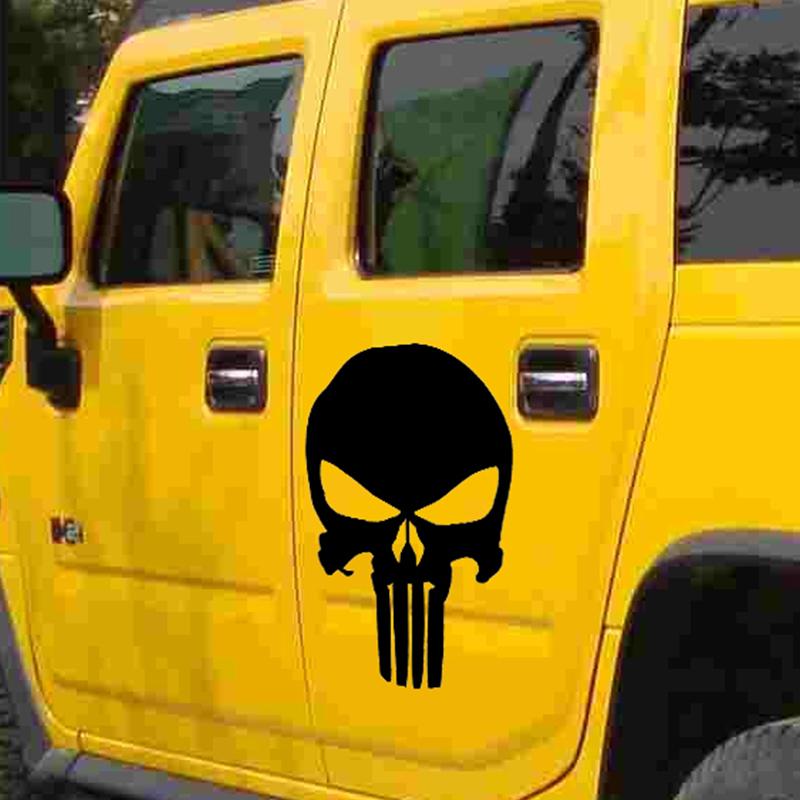 Compare Prices On Punisher Skull Car Window Sticker Online - Truck door decals   online purchasing