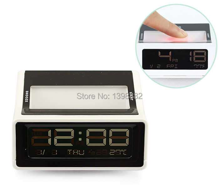 Digital LCD LED Desk Table Alarm Clock Thermometer Calendar Date Travel Mini(China (Mainland))