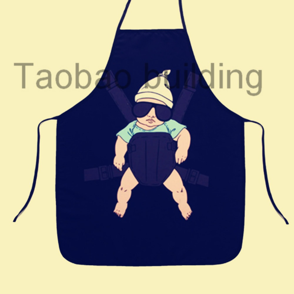 Blue apron gift -  Taobao Building Superman Hero Anime Cartoon Character Series Kitchen Apron Funny Personality Cooking Apron Gift