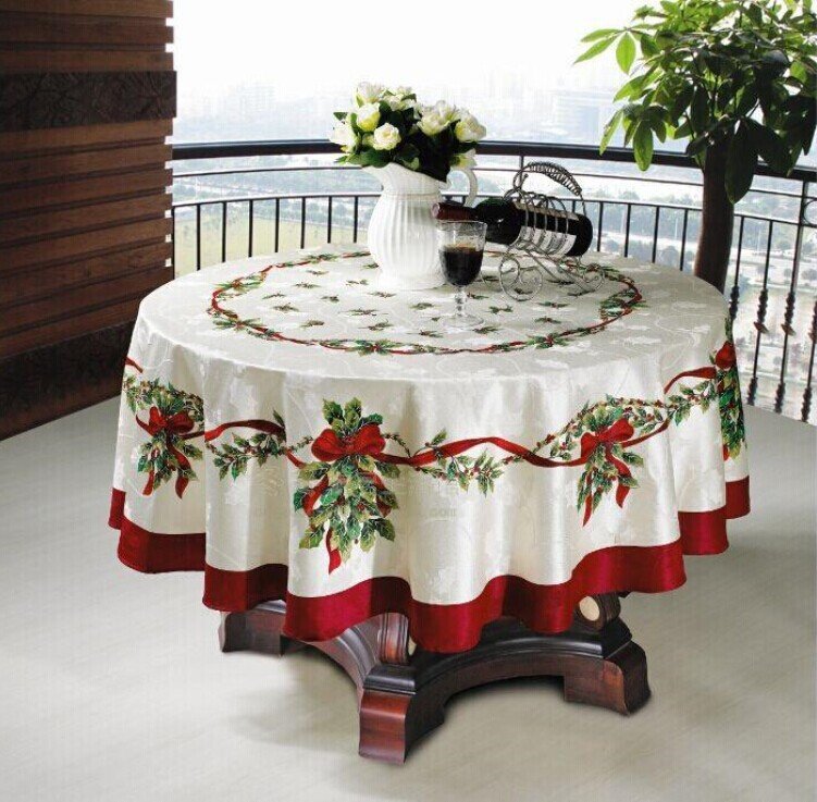 Fashion table cloth dining table cloth gremial blue christmas tablecloth Table Overlay(China (Mainland))