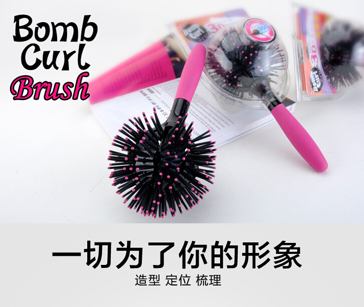 360 degree Ball Styling korean bomb curl 3D Hair Brushes make-up Blow Drying Detangling Heat Resistant Hair Comb(China (Mainland))