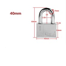 40mm,Warehouse security window gates tamper with anti-rust steel blade plum small padlock violence(China (Mainland))