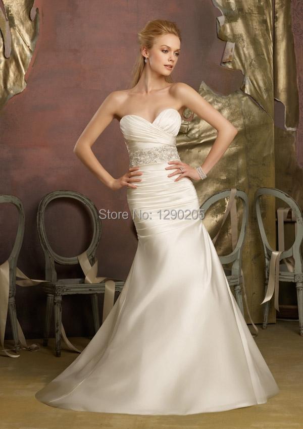 Crystal beaded duchess satin organza beading wedding dress Wedding dresses with crystal beading