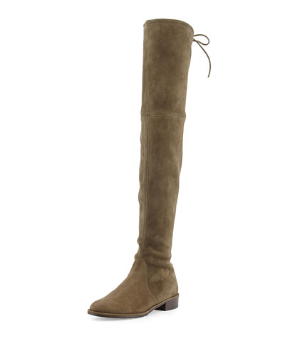 Thigh High Boots Flat Suede