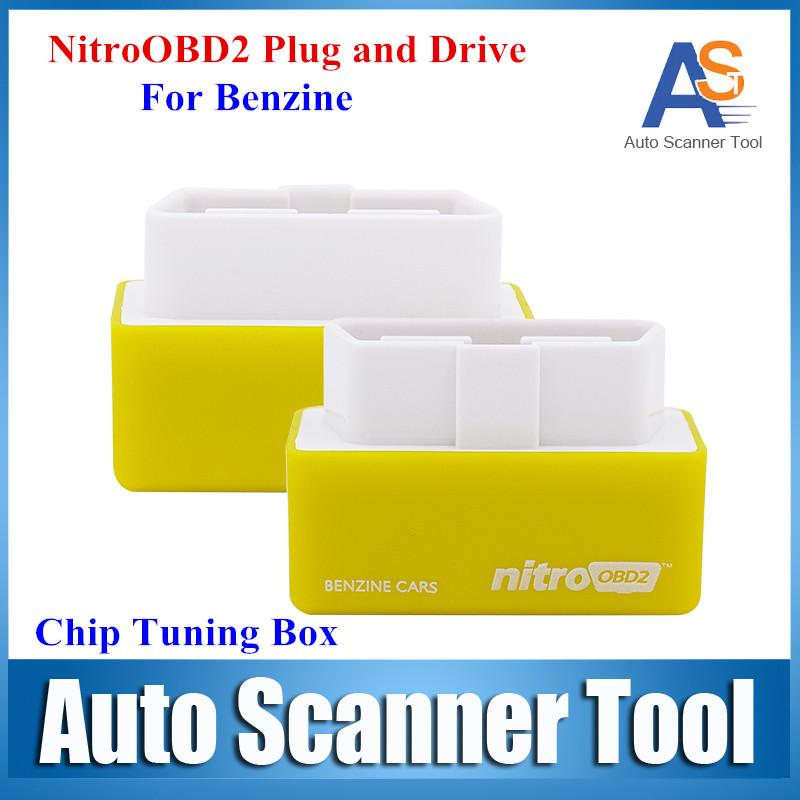 Top Selling NitroOBD2 Gasoline Benzine Cars Chip Tuning Box NitroOBD More Power & Torque Nitro OBD Plug and Drive Nitro OBD2(China (Mainland))