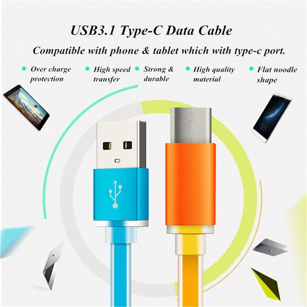 1 M / 3FT USB 3.1 Type C USB C Cable USB Data Sync Charge Type-C Cable For Nokia N1 Tablet For Macbook/Nokia N1 Oneplus 2 Pro Ch