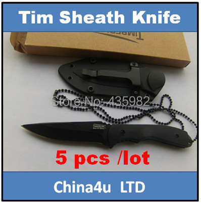 5 pcs/ lot tactical knife outdoor survival Hunting knives camping tool straight Fixed ABS handle - Cina4U Kinfe store