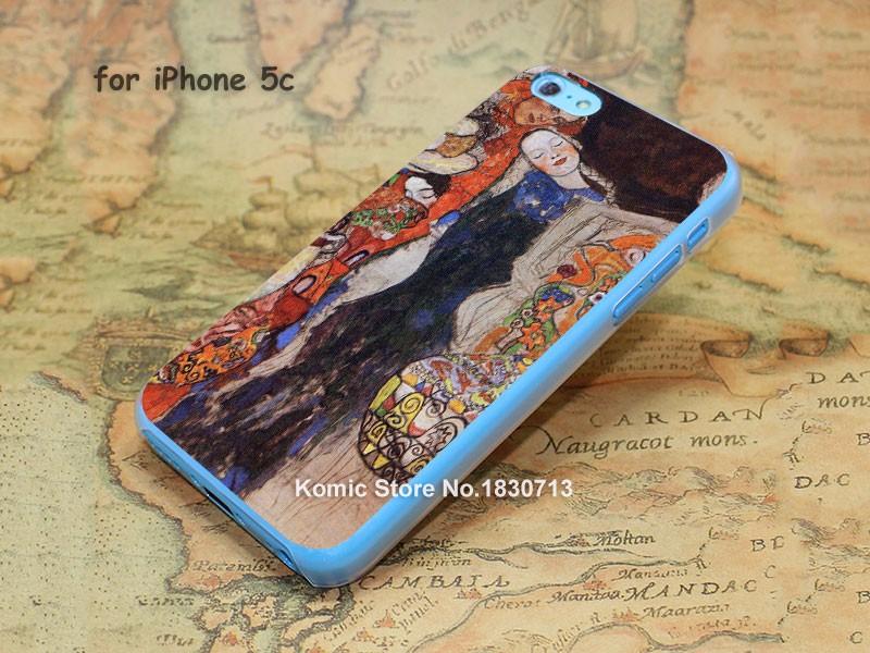 ao96 gustav klimt paint classic hard transparent clear Cover Case for iPhone SE 4 4s 5 5s 5c 6 6s Plus