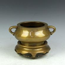 Gold snail incense burner copper 12 belt long ears furnace refined copper incense stove copper(China (Mainland))