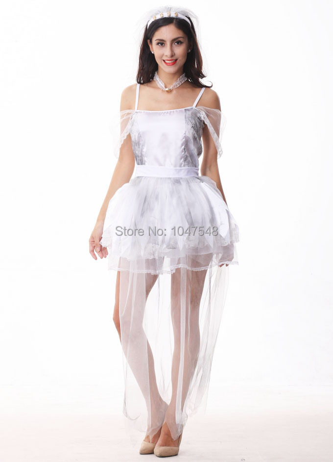 Halloween costume Ghost bride art clothing cosplay Bar dance outfit costume outfit sexy costume for woman(China (Mainland))