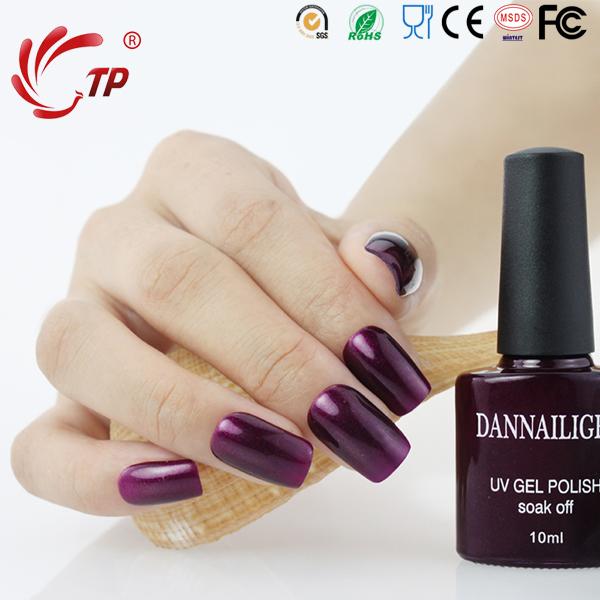 Dannail Gel #46 Dannail Purple 10ml Long Lasting Soak Off UV Gel Nail Polish Nail Art UV Manicure Cosmetic Blink Gel(China (Mainland))