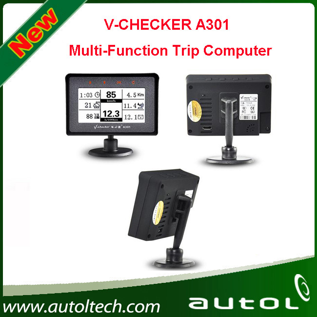 V-CHECKER A301 Multi-Function Trip Computer which helps users to quickly access to vehicle trouble code information and status(China (Mainland))