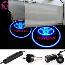 2 pcs Light Welcome Laser Projector Lights LED Car Logo Courtesy Lights Door light for toyota