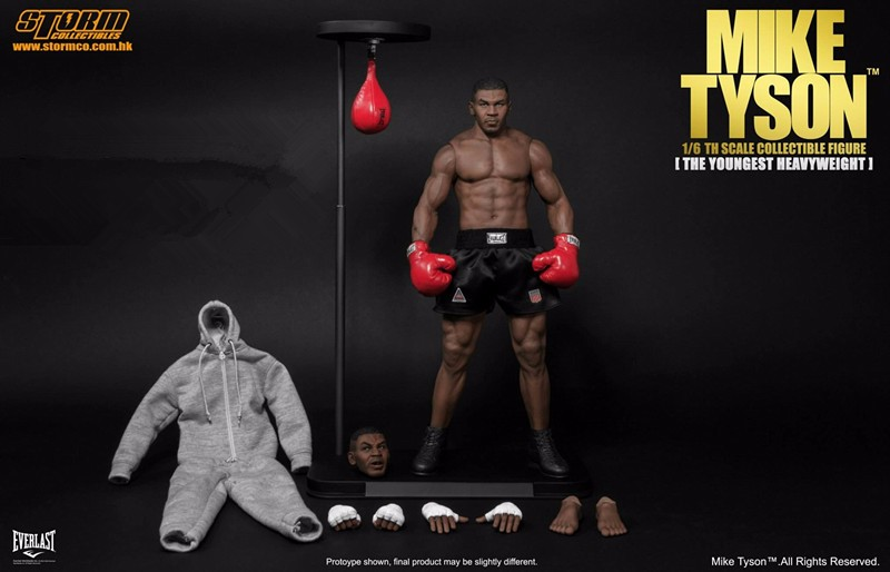 Storm Toys 1/6 scale MIKE TYSON [THE YOUNGEST HEAVYWEIGHT] Full set Motion Determine With Two Heads Collections In Inventory