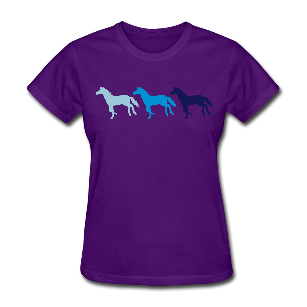 slim fit womens teeshirt three horses cool logo women s t. Black Bedroom Furniture Sets. Home Design Ideas