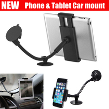 car mount Phone holder universal soft pipe suction cup windshield mount dashboard stand for 3.5-6inch & 7-10 inch Tablet(China (Mainland))
