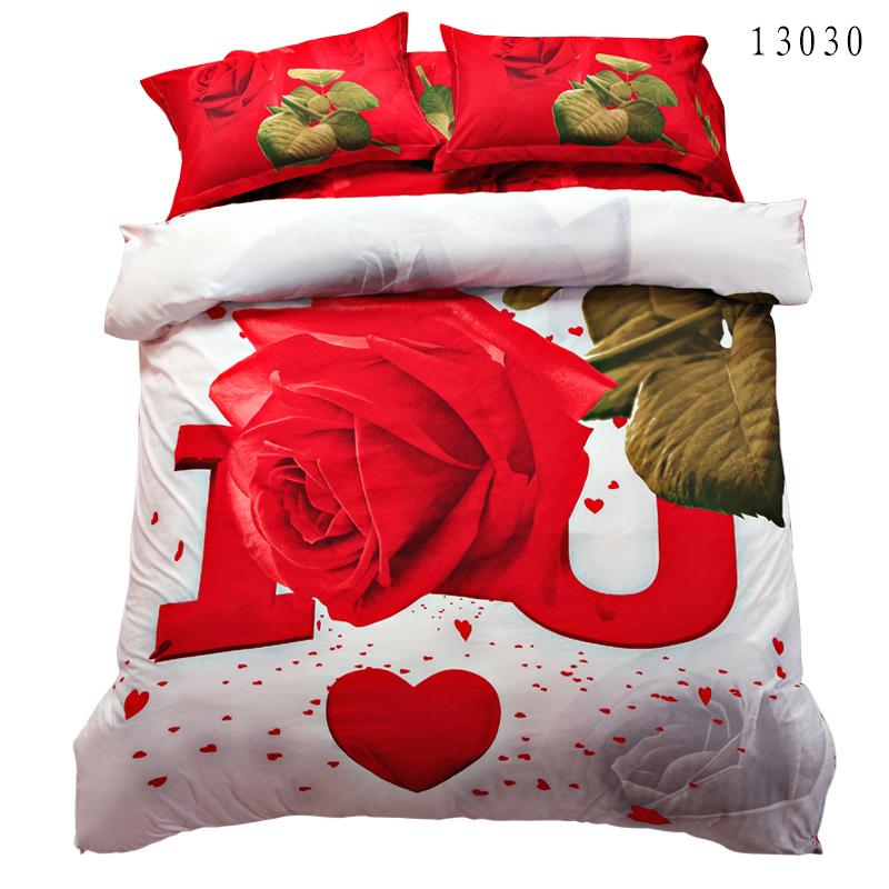 Comprar algod n sistemas del lecho 3d hoja for Sabanas para cama queen size