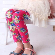 Delicate 2016 Fashion Cute Children  Kids Baby Girl Stretch Render Children Trousers Tenths pants Leggings  Ju22(China (Mainland))