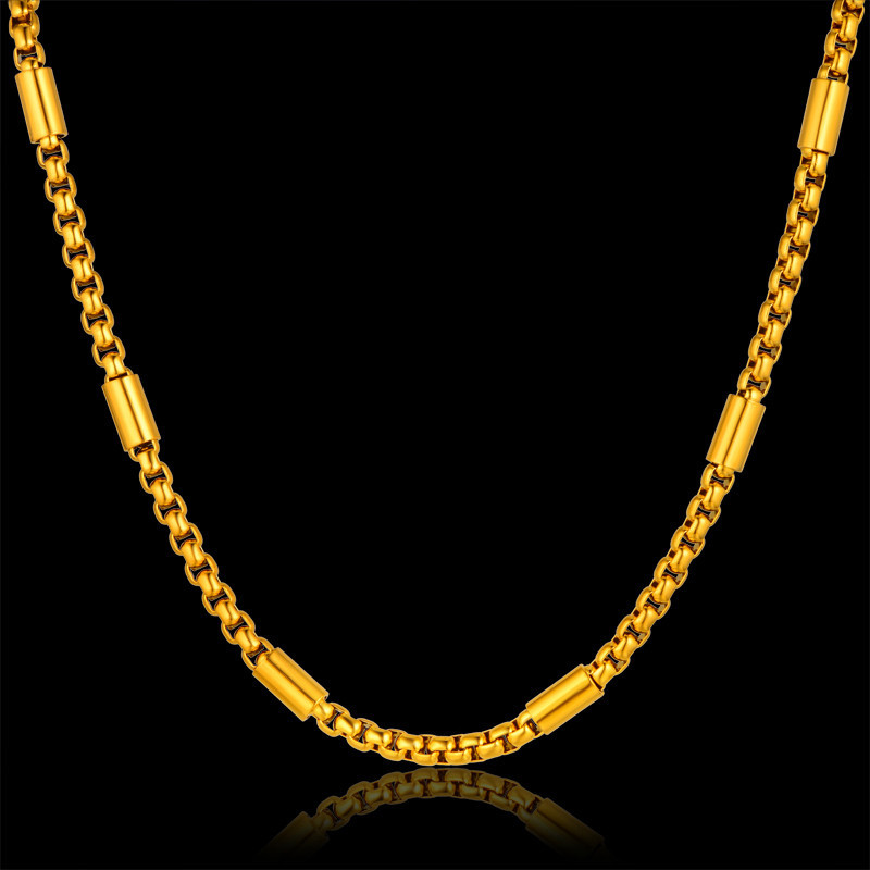 Fashion Friendship Thick Gold Chain Necklace Male, New 3 Size Long Mens Gold Chain 18K Real Gold Plated, Brand Jewelry Hot Sale(China (Mainland))