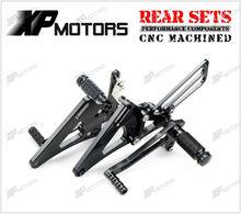 Racing CNC Foot Pegs Adjustable Rearset Rear Sets Honda CB400SB Super Bordeaux 1999 2000 01 02 03 04 05 06 2007 Black - A&M Kebull's Parts store