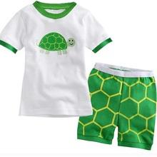 Monsters 2015 Summer Boys Pajamas Suits Short Sleeve Pijama Children Pyjama Sets Free Shipping