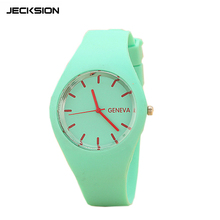 JECKSION Geneva Watches Women Sports Candy-colored 12 Colors Jelly Silicone Strap Leisure Watch Free Shipping LYW1(China (Mainland))