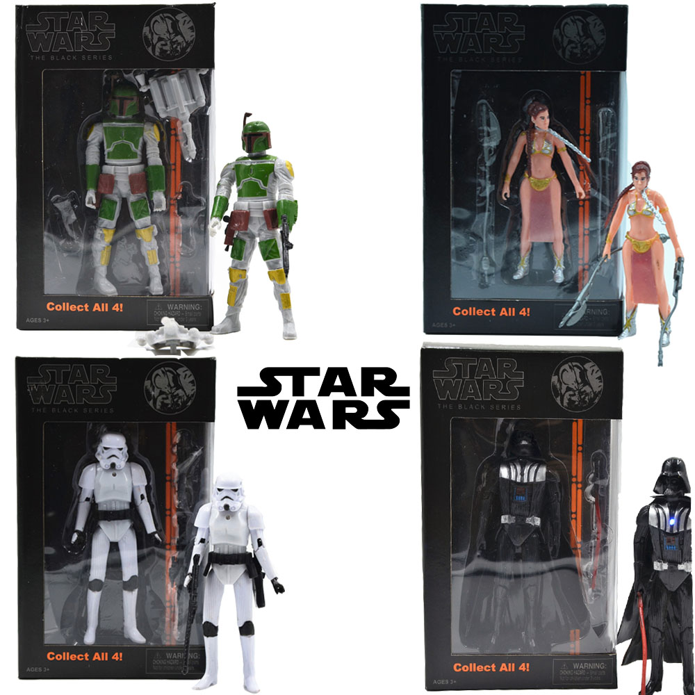 4 style Disney Star Wars Black white knight led light Model Movie PVC Boxed Action Toy Figures Kids Toys Ad4042(China (Mainland))