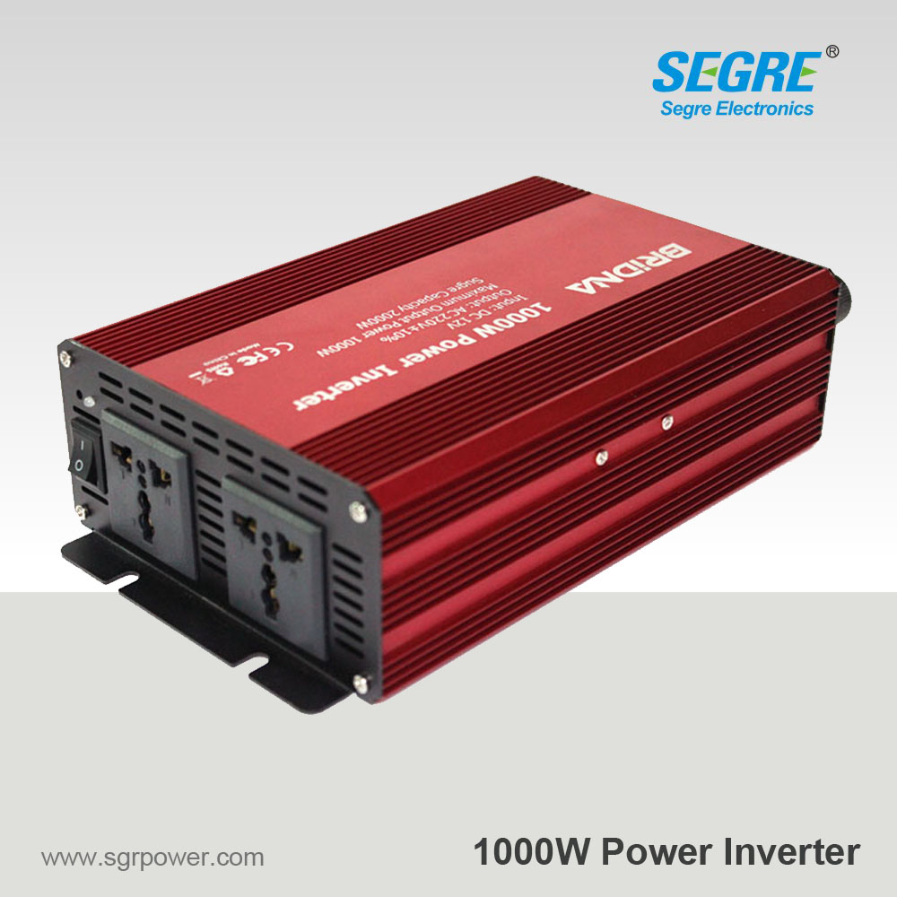 BRIDNAfull 1kw 1000w (2kw peak) modified sine wave inversor converter dc 12v 24v to ac 220v battery auto car home power inverter(China (Mainland))