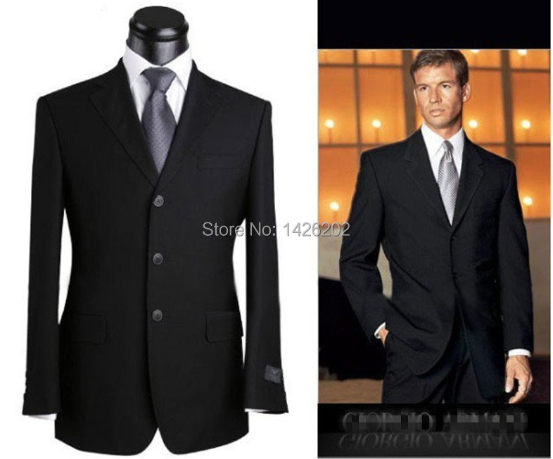 Black 3 Button Suit