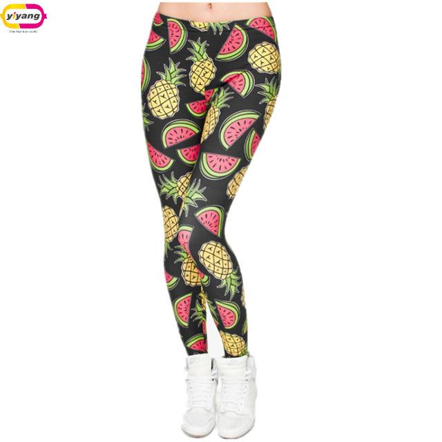 Жарко фрукты серии 3D напечатаны мода женские леггинсы пространство галактики леггинсы tie dye фитнес брюки