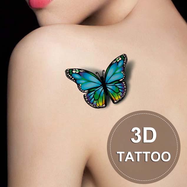 New Arrival 5Pcs/lot 3D Butterfly Tattoos Waterproof Temporary Tatoo Stickers Women Fashion Body Art Taty Tatouages(China (Mainland))