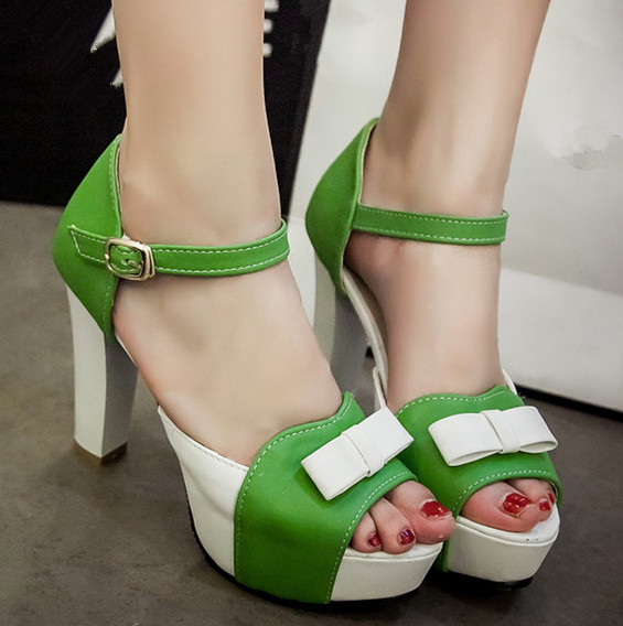 ENMAYER bow 12cm gladiator sandals women new shoes women sandals high women platform Sandals BIG  Mixed Colors gladiator Sandals<br><br>Aliexpress