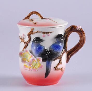 Manufacturers selling porcelain enamel like bird cup, ceramic mug cup bone china coffee cup creative gifts(China (Mainland))