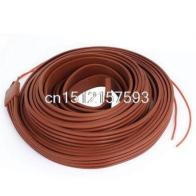 Red Flexible Silicone Waterproof Heater Strip Band 25mm Wide 10M Long 48V<br><br>Aliexpress