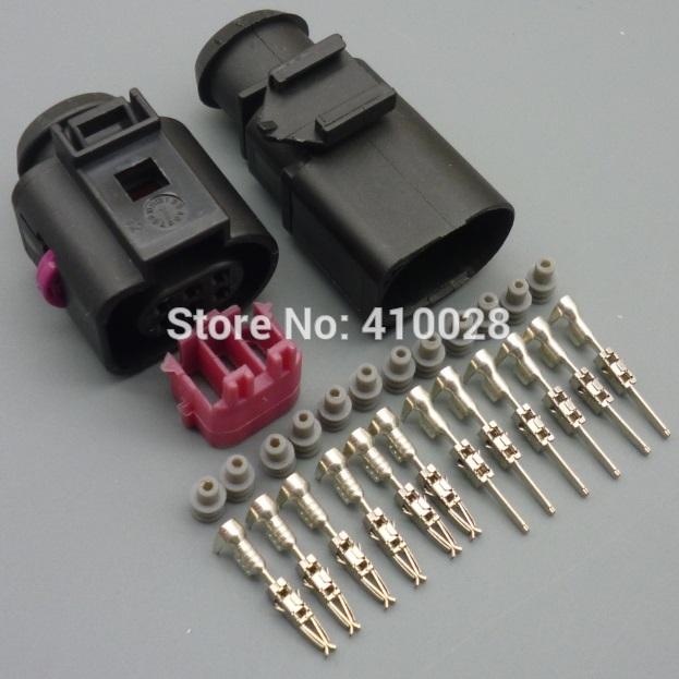 30sets sensor/Throttle Body connector for VW Audi TT for  VW Jetta Golf MK4 Beetle 1J0973713 O2 sensor 6-way Plug connector<br><br>Aliexpress