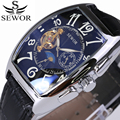 SEWOR Top Luxury Brand Rectangular Tourbillon Men Watches Automatic Mechanical watch Fashion Vintage Clock relogio masculino