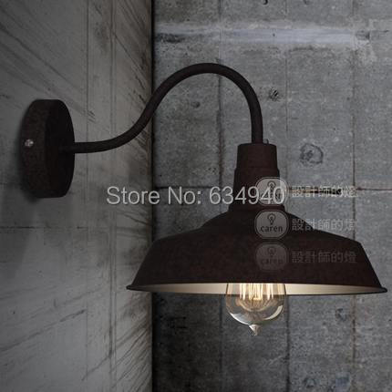 Loft vintage American country style wall lamp/rust color/aluminium cap wall lamp/vintage wall lamp/Wholesales/free shipping(China (Mainland))