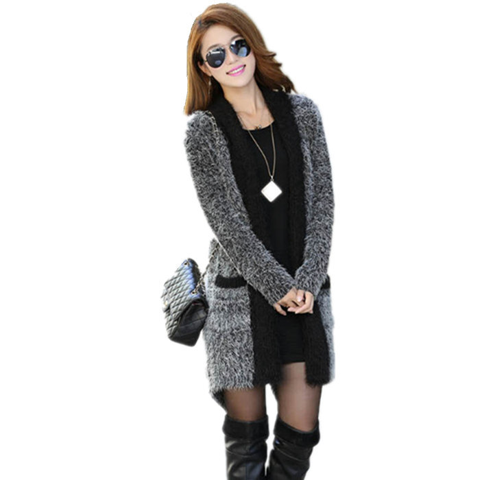 2016 Spring & Autumn New Fashion Women's Casual Outerwear & Coats Solid Mohair Sweater Ladies' Long Sleeved Shawl Cardigan(China (Mainland))