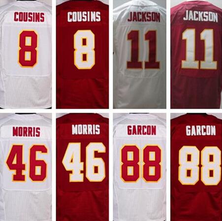 8 Kirk Cousins 11 DeSean Jackson 86 Jordan Reed 24 Josh Norman 46 Alfred Morris 21 Sean Taylor 88 Pierre Garcon elite jersey(China (Mainland))