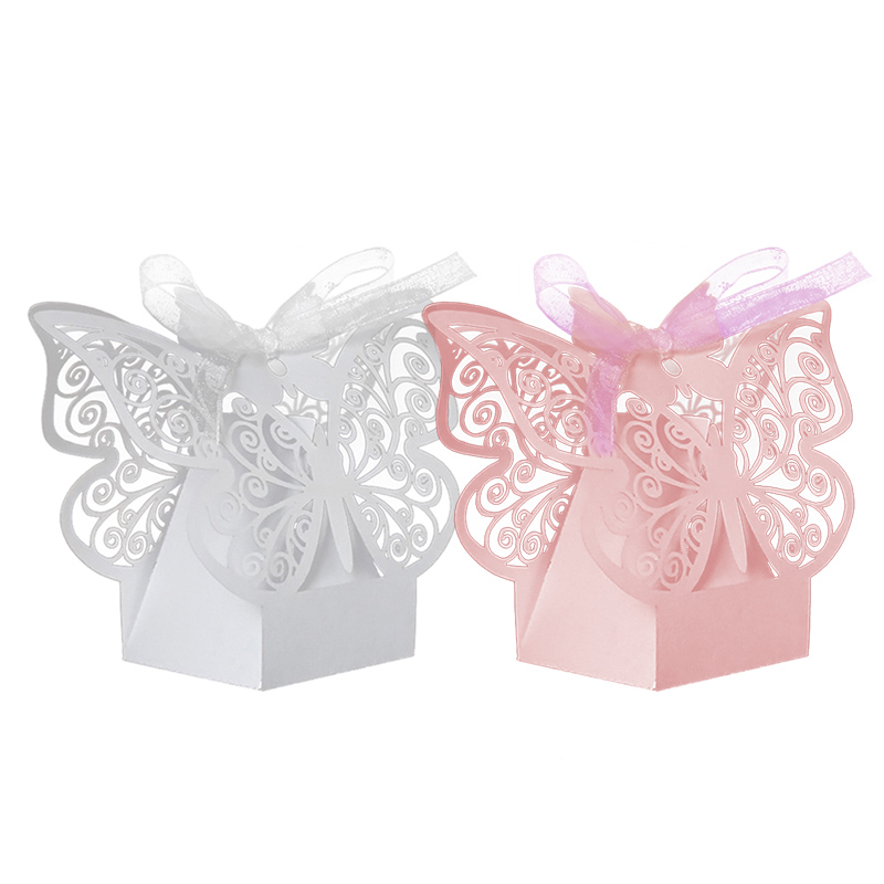 50Pcs Gift Box Paper Butterfly Laser Cut Candy Boxes For Wedding Party Decor Chocolate Hot Sale(China (Mainland))